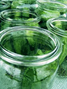 cukes pickles in jars